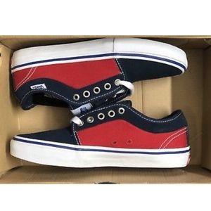 3f128af30277 Van s old skool pink suede sneaker 9.5.  55  75. Vans Chukka Low Pro Shoes  Dress Blues Racing Red